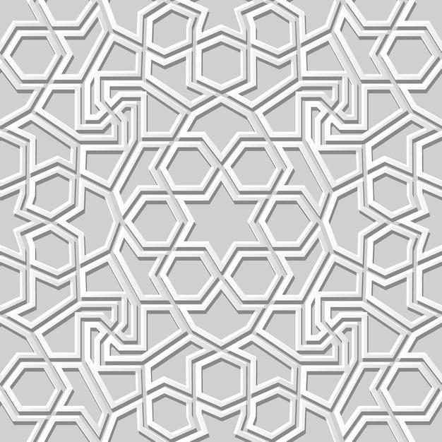 Witboek kunst geometrie kruis patroon naadloze achtergrond, stijlvolle decoratie patroon achtergrond voor webbanner wenskaart Premium Vector