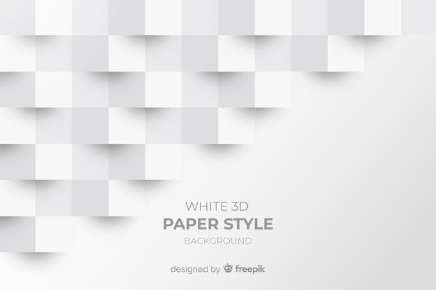 Witte 3d papier stijl achtergrond Premium Vector