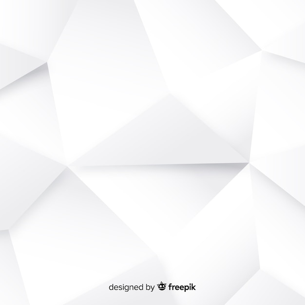 Witte 3d papier stijl achtergrond Gratis Vector