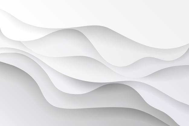 Witte abstracte achtergrond in 3d-papierstijl Gratis Vector