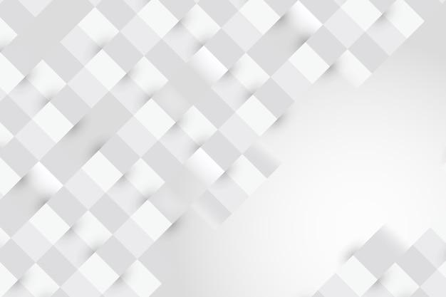 Witte abstracte achtergrond in 3d-stijl Gratis Vector