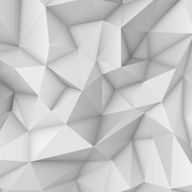 Witte abstracte veelhoekige achtergrond Premium Vector