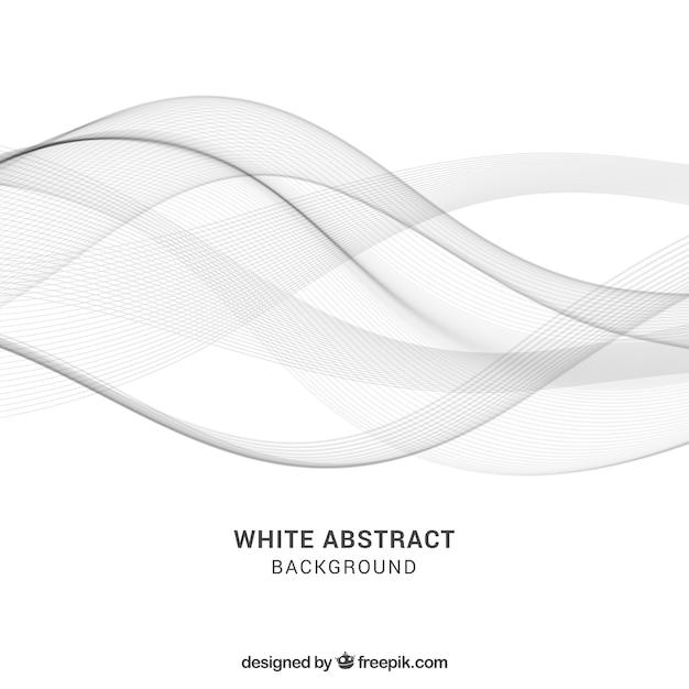 Witte achtergrond met abstract ontwerp Gratis Vector