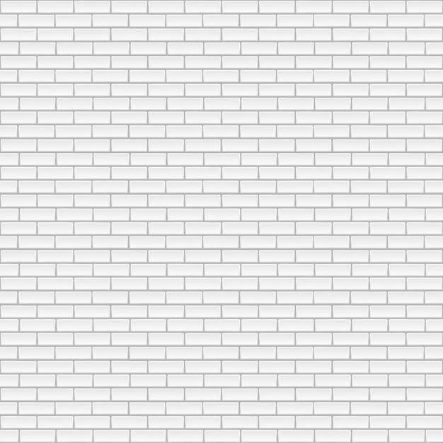 Witte bakstenen muur achtergrond. Premium Vector