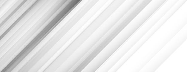 Witte bannerachtergrond met diagonale lijnen Gratis Vector