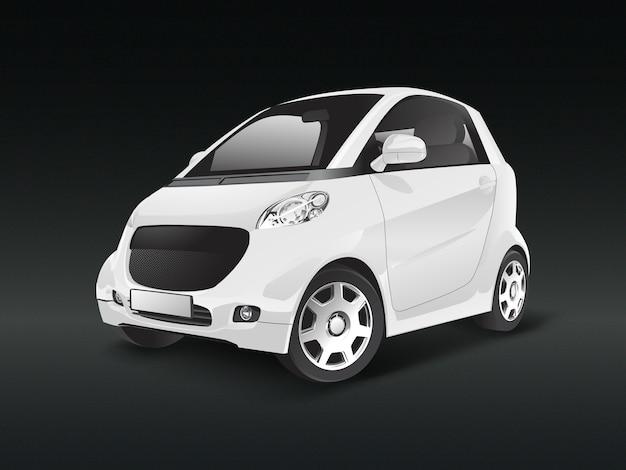 Witte compacte hybride auto vector Gratis Vector