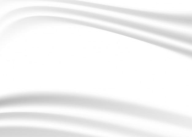 Witte doek achtergrond Premium Vector