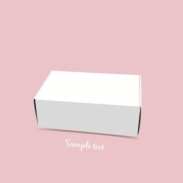 Witte doos malplaatjeontwerp Gratis Vector