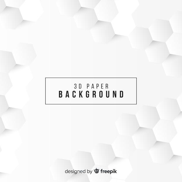 Witte driedimensionale papierstijl achtergrond Gratis Vector