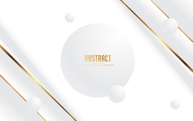 Witte en grijze abstracte achtergrond Premium Vector