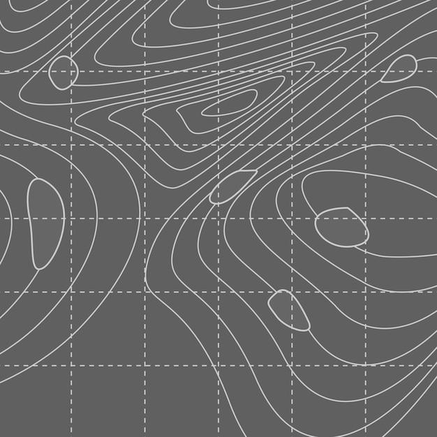 Witte en grijze abstracte contourlijnkaart Gratis Vector