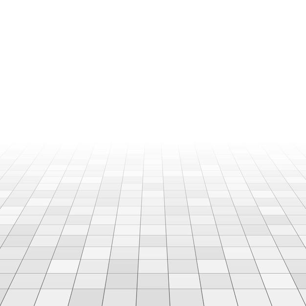 Witte en grijze marmeren tegels op de badkamervloer Premium Vector