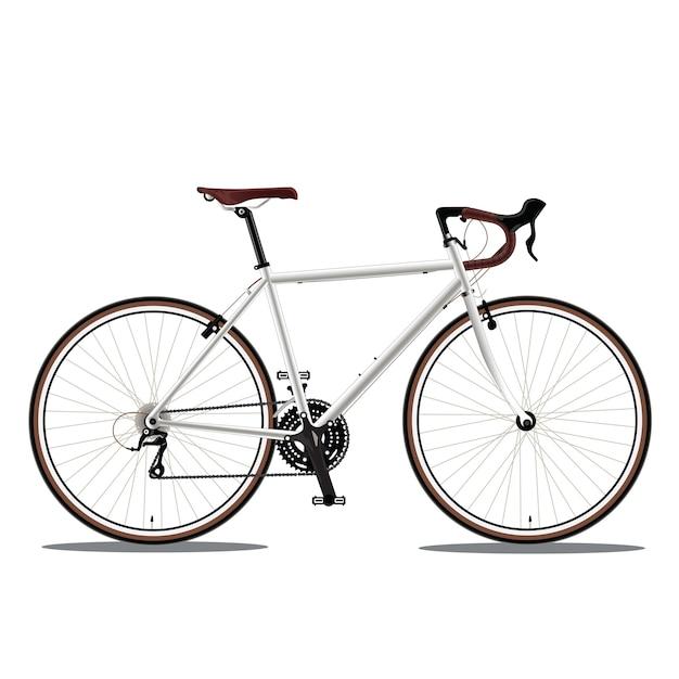 Witte fiets Premium Vector