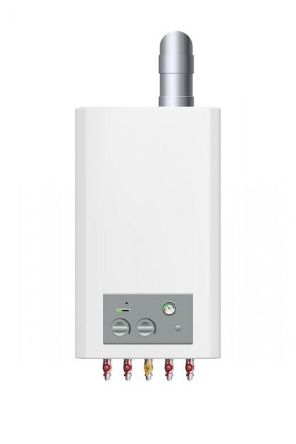 Witte gasketel Premium Vector