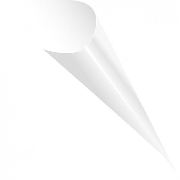 Witte gekrulde pagina Gratis Vector