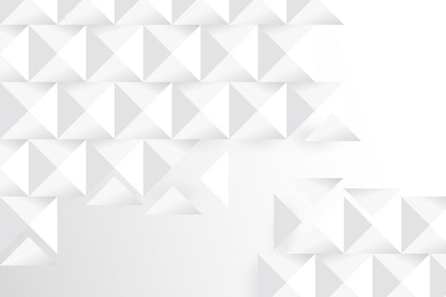 Witte geometrische achtergrond in 3d-papierstijl Gratis Vector