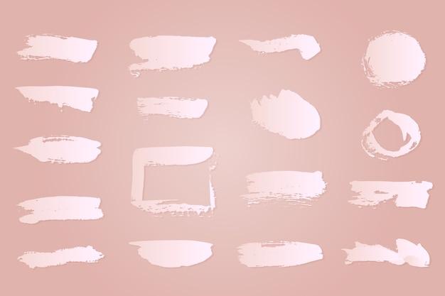 Witte inkt penseelstreken collectie Gratis Vector