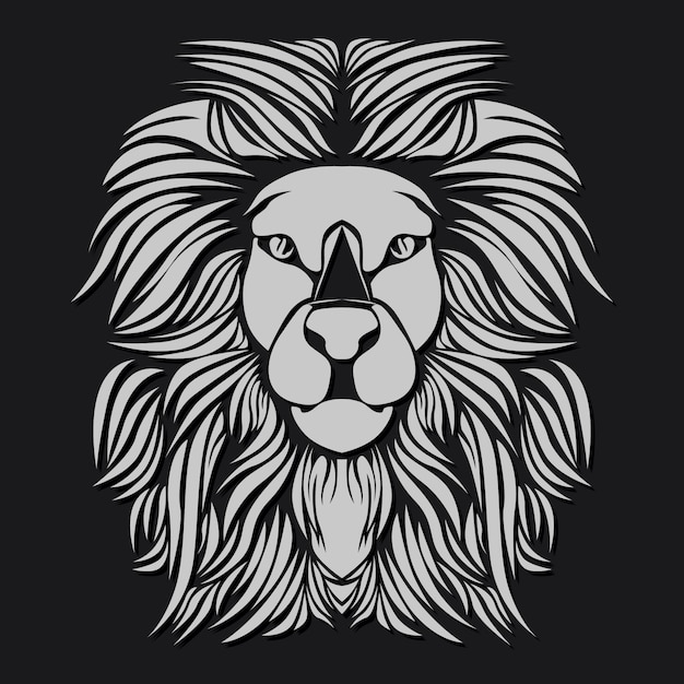 Witte leeuw Premium Vector