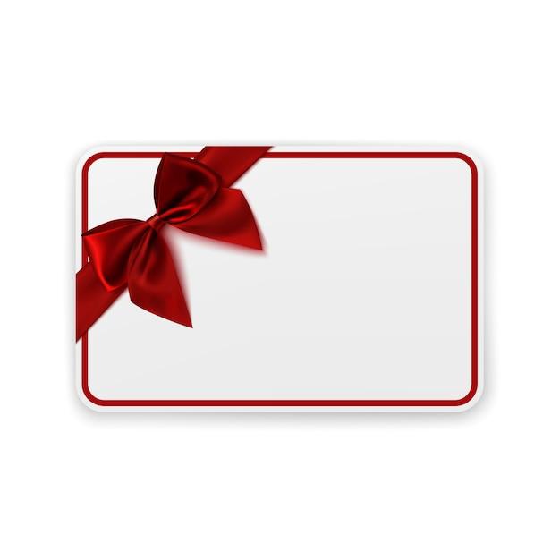 Witte lege gift card sjabloon. Premium Vector