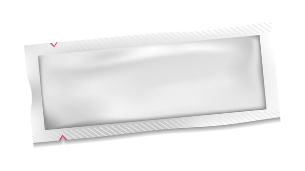 Witte lege zak van polyethyleen plastic zakje Premium Vector