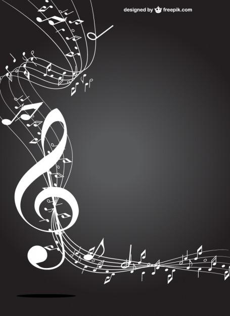 Witte muziek-toets Gratis Vector