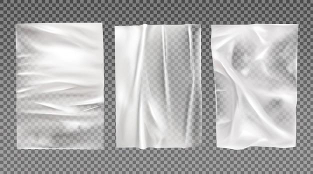 Witte natte papieren set Gratis Vector