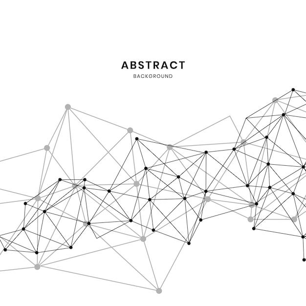 Witte neurale netwerkillustratie Gratis Vector