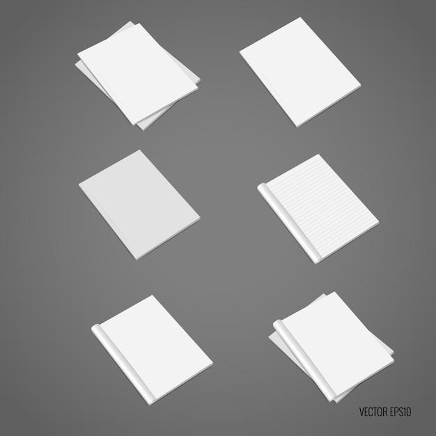 Witte papieren collectie Gratis Vector