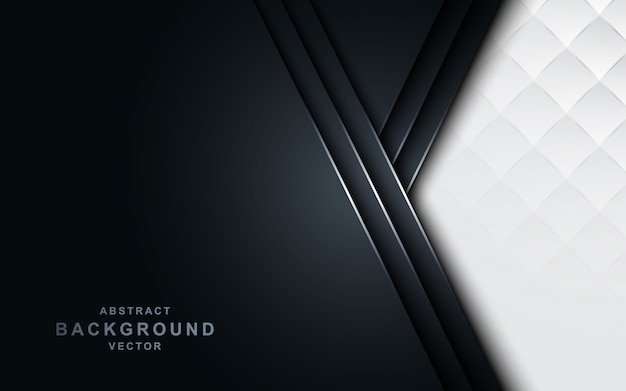 Witte pijl op donkere marine achtergrond. Premium Vector