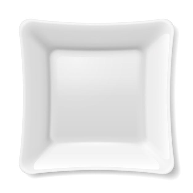 Witte plaat Premium Vector