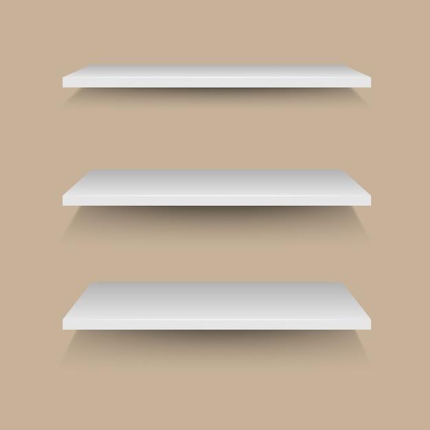 Witte Planken Aan De Muur.Witte Planken Op Bruine Muur Vector Premium Download