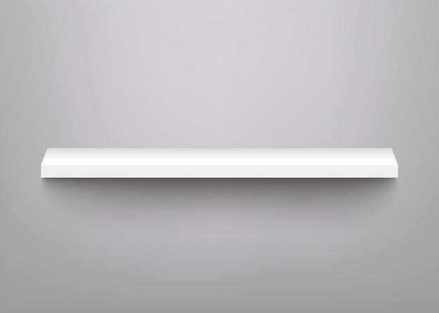 Witte planken voor productvertoning Premium Vector
