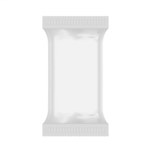 Witte plastic zakmodel Premium Vector