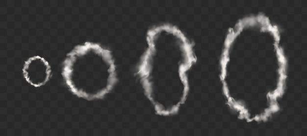 Witte rook gaat over van sigaretten, pijpen of dampen Gratis Vector