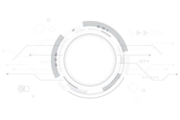 Witte technische achtergrond Gratis Vector