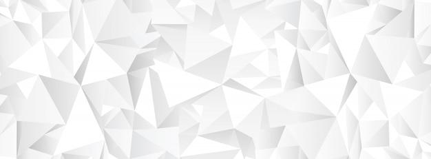 Witte veelhoekige abstracte mozaïekachtergrond Premium Vector