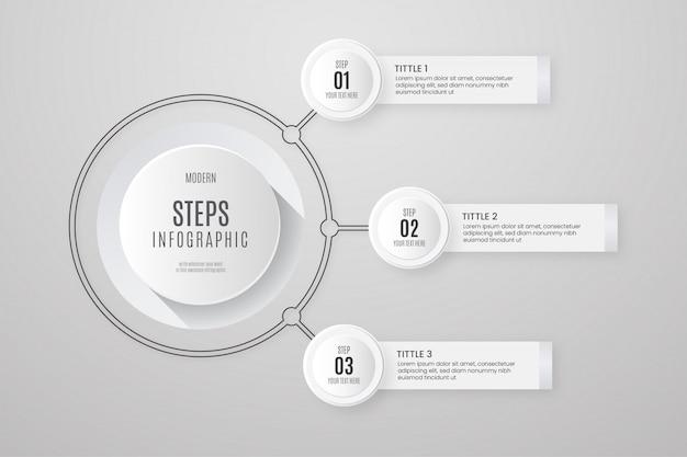 Witte zakelijke infographic Gratis Vector
