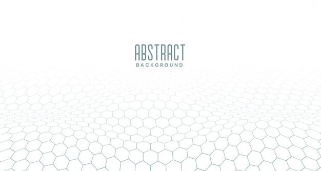 Witte zeshoekige digitale abstracte achtergrond Gratis Vector