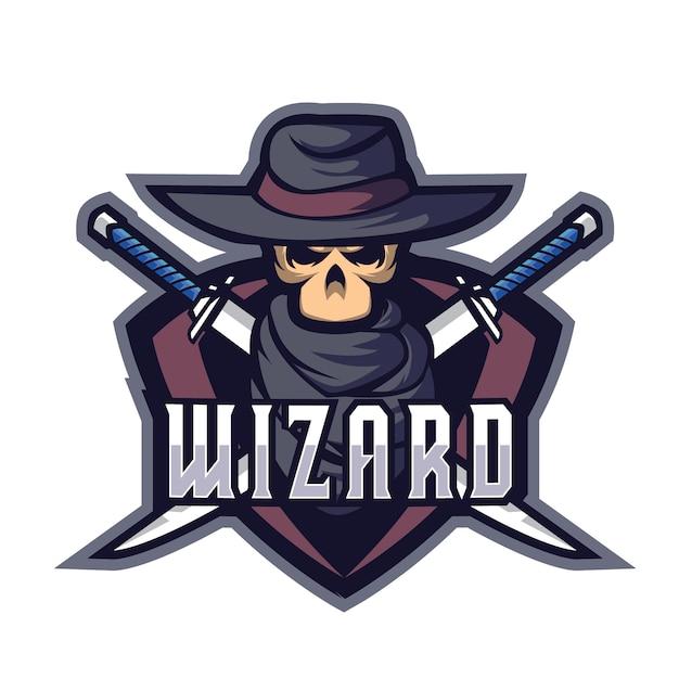 Wizards blade e sports-logo Premium Vector