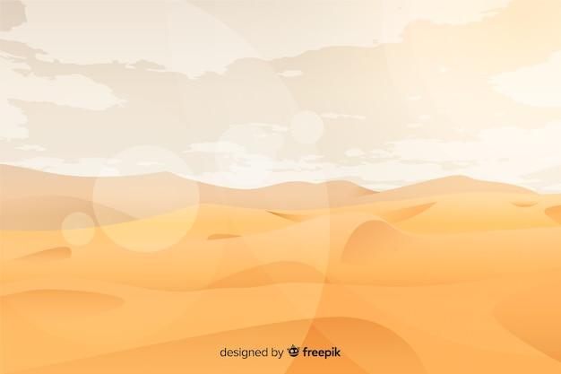 Woestijnlandschap met gouden zand Gratis Vector
