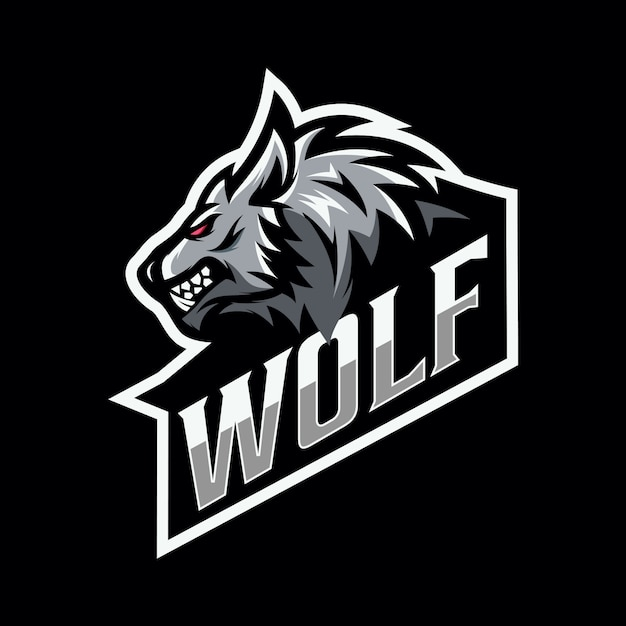Wolf mascotte esport logo Premium Vector