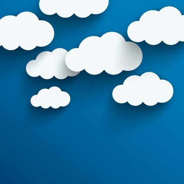 Wolken achtergrond Gratis Vector