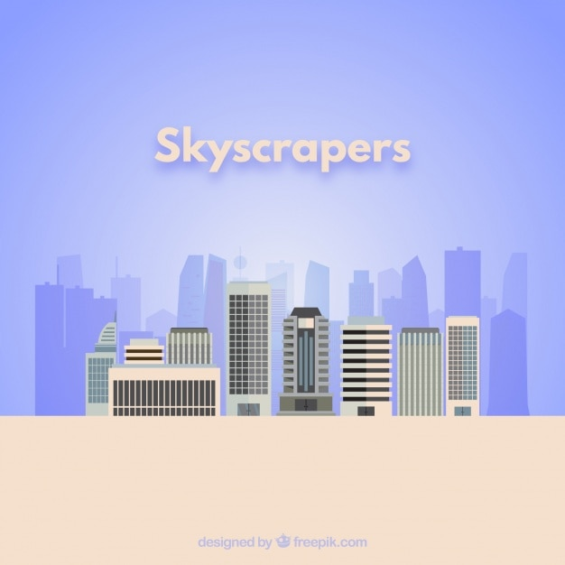 Wolkenkrabbers Vector Gratis Download