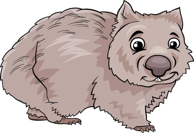 Wombat dierlijk beeldverhaalillustratie Premium Vector
