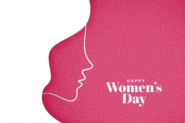 Womens dag achtergrond in creatieve stijl Gratis Vector