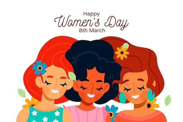 Womens dag concept in plat ontwerp Gratis Vector