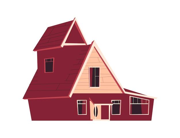 Woningbouw, cartoon afbeelding Gratis Vector