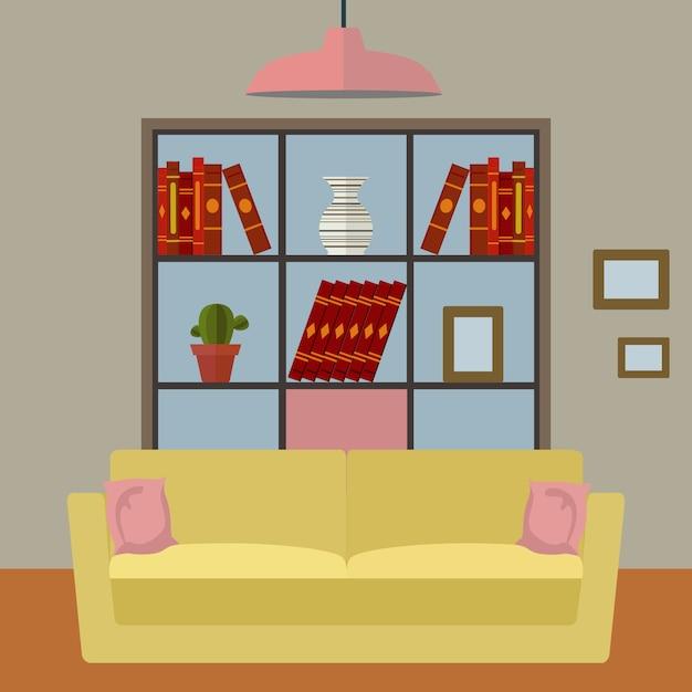Woonkamer achtergrond ontwerp Vector | Gratis Download