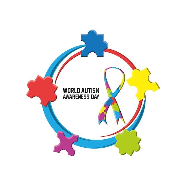 World autism awareness day ontwerp Premium Vector