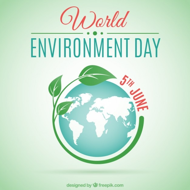 World environment day achtergrond Gratis Vector
